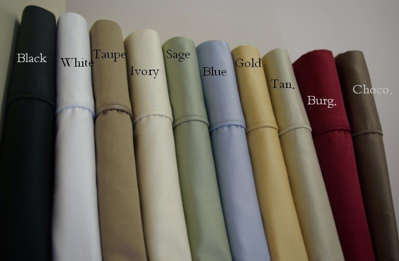 King Size Deep Pocket Blue Fitted Sheet 600TC 100% Egyptian Cotton