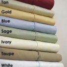 Deep Pocket Twin XL Ivory Fitted Sheet 600TC 100% Egyptian Cotton