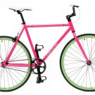 Critical Cycles Fixed Gear Single Speed Fixie Urban Road Bike (Pink/Celeste, X-S
