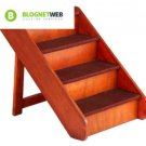Pet Wood Stairs Extra Large Dog Animal Ladder Ramp Bed Steps Portable Folding