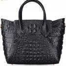 Pifuren Women Genuine Leather Embossed Crocodile leather Top-handle handbags P67