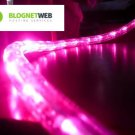 CBconcept 120VLR80FT-Pink 120V 2-Wire 1/2-Inch LED Rope Light with 1.0-Inch LED