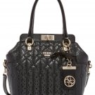 GUESS Malena Turn-Lock Satchel,Black,One size