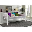 Metal Daybed Frame White Contemporary Day Bed Twin Dorel Home Guest Room New