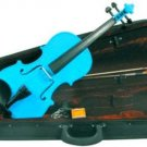 Merano MV200LBL 4/4 Full Size Color Violin with Case - Gloss Light Blue Finish