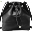 Heshe Leather Womens Buckets Bag Shoulder Handbags Drawstring Bags Crossbody Pur