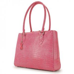 Pink Faux Crocodile Komen Milano Laptop Case & Tote Bag by Mobile Edge
