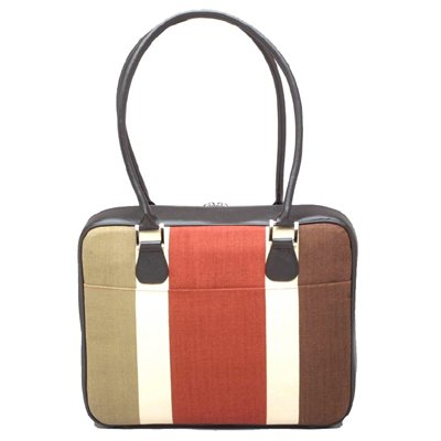 Olive Canvas Stripe Laptop Case by Mango Tango