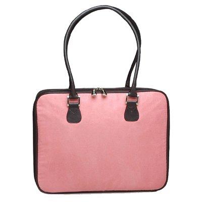 Pink Faux Suede Laptop Bag by Mango Tango