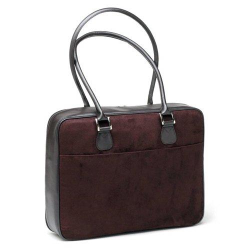 Chocolate (Dark Brown) Faux Suede Laptop Bag by Mango Tango