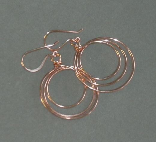 Loop de Loop Earrings Copper