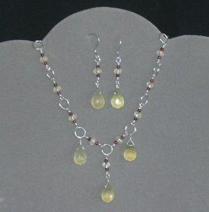 Lemon Raspberry Supreme Jewelry Set