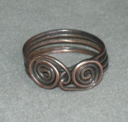 Double Spiral Unisex Ring