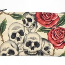 Day of the Dead wallet coin purse-Dia De Los Muertos w/zipper Big enough 4 Make-up