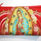 Mexican Virgin Mary Guadalupe wallet coin purse rockabilly- w/zipper Big enough 4 Make-up