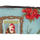 Frida Kahlo Art Mexican Novelty wallet coin purse- w/zipper Big enough 4 Make-up