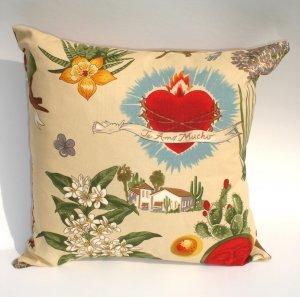 Frida Kahlo Art Mexican Novelty throw Pillow 12x12in.