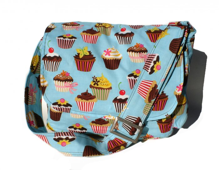Sweet Cupcakes Messenger Purse