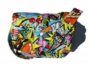 Sweet Midnight Snack Messenger Purse