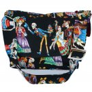 Colorful Dia De Los Muertos Day of the Dead Large Messenger Purse w/adjustable handles