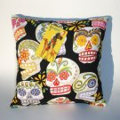 Day of the Dead wallet coin purse-Dia De Los Muertos throw Pillow rockabilly