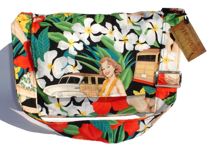Pin up Art Large Messenger Purse w/adjustable handles