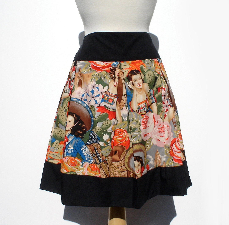 Sabor de Senoritas Pleated Skirt