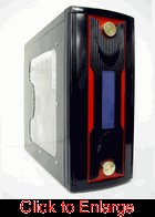 Black and Red X-13 Designer Steel Gamer Case w/o Power Supply