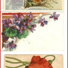 Lot of 5 Colorful Vintage Postcards---Flower Theme