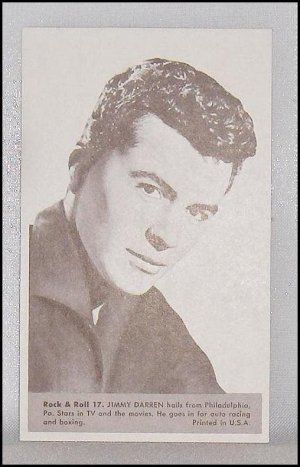 Rock and Roll Exhibit Card  Jimmy Darren