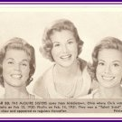Rock and Roll Exhibit Card The McGuire Sisters