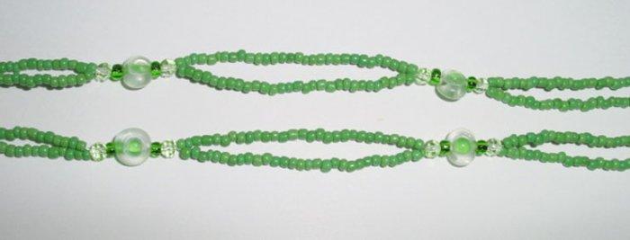 Beaded Bra Straps Green 17