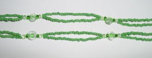 Beaded Bra Straps Green 17