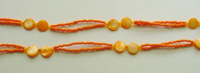 Beaded Bra Straps Orange 7