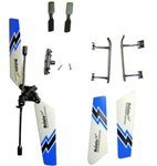 UJ4704 Mini Gyroscope 3.5 Channel Infrared RC Helicopter - Blue Blade Set with Skid