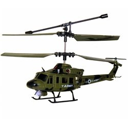 UJ4704 Mini Gyroscope 3.5 Channel Infrared RC Helicopter (Olive)
