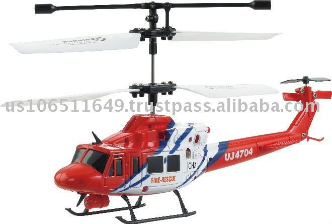 UJ4704 Mini Gyroscope 3.5 Channel Infrared RC Helicopter (Red)