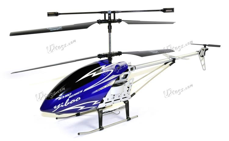 "Yiboo UJ317 Finback 3.5 Channel Flash Light 30"" RC Helicopter w/ Gyro - Blue (Large)(UJ317_B)"