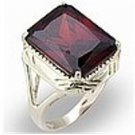 5 Ct. Garnet Cubic Zirconia Ring