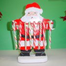 Wooden Santa Claus Candycane Holder
