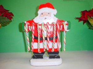Wooden Santa Claus Candycane Holder