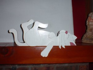 Wooden Cat Plaque DoorTopper