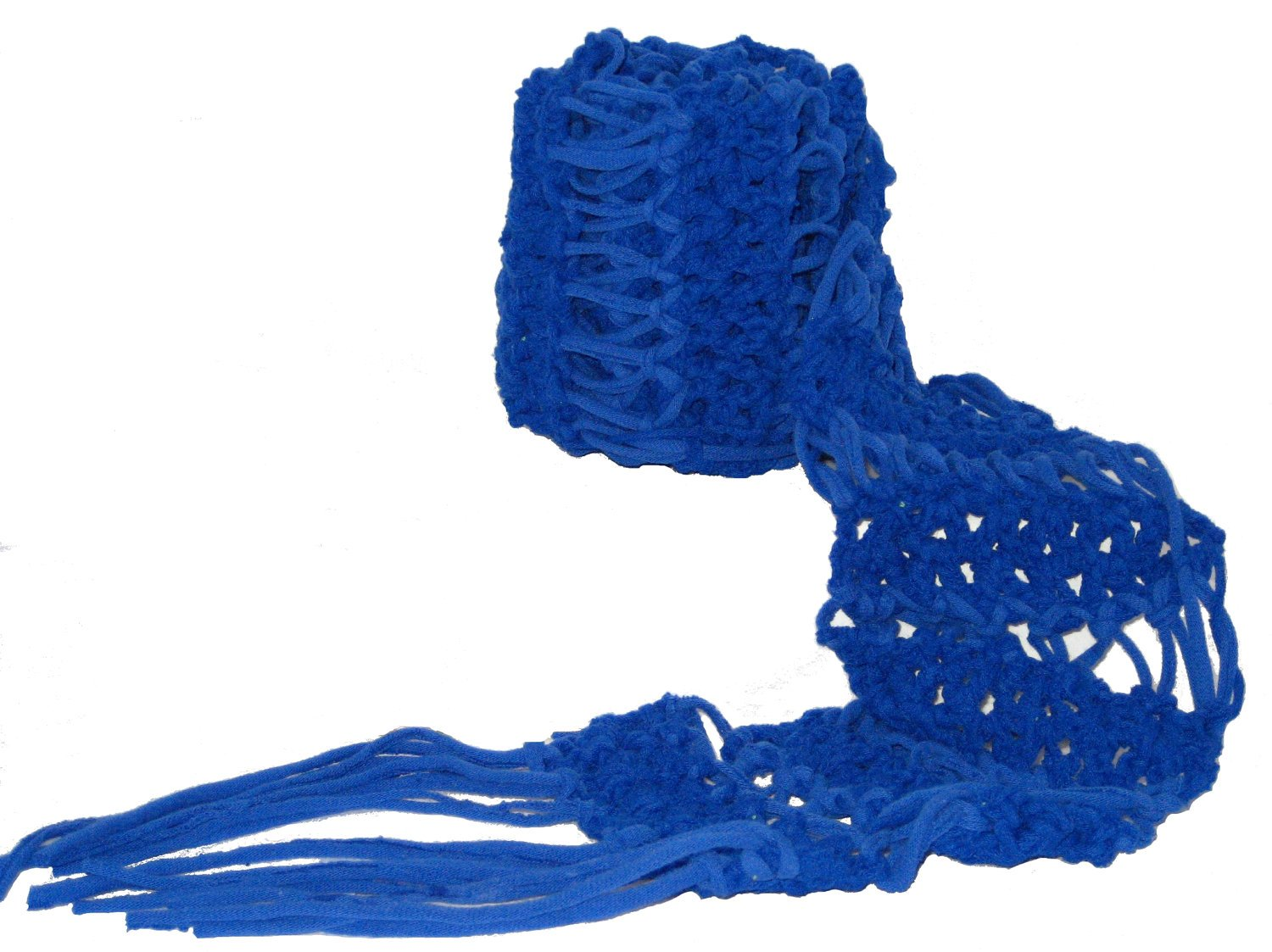 Scarf blue made with T-shirt yarn Fun and Funky Blue
