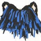 Boho Shag Bag Blue and Black size medium