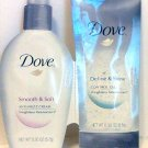 Dove Hair Care 4 count Smooth & Soft anti-frizz cream Define & Shine control gel travel trial new