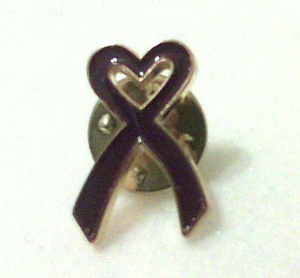 Purple Heart Ribbon Pin Set wounded veterans memorial lapel brooch new
