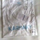 Karmaky T-shirt size Large Be the Good women white new