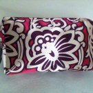 Allegro Bag cosmetic clutch floral 4 x 6 inch new