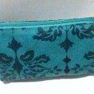 Allegro Bag cosmetic clutch 4x6 blue garden variety new