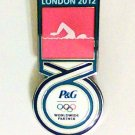 P&G London Olympics Olympic 2012 Swimming Swimmer Pin Badge Sponsor Pin new